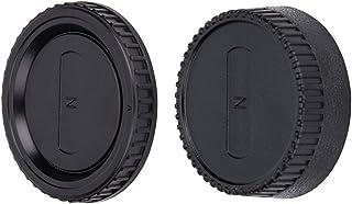 JJC Pokrywa obudowy + osłona obiektywu (z tyłu) do aparatów Nikon F Mount DSLR i obiektywów montażowych Nikon F (1 zestaw)