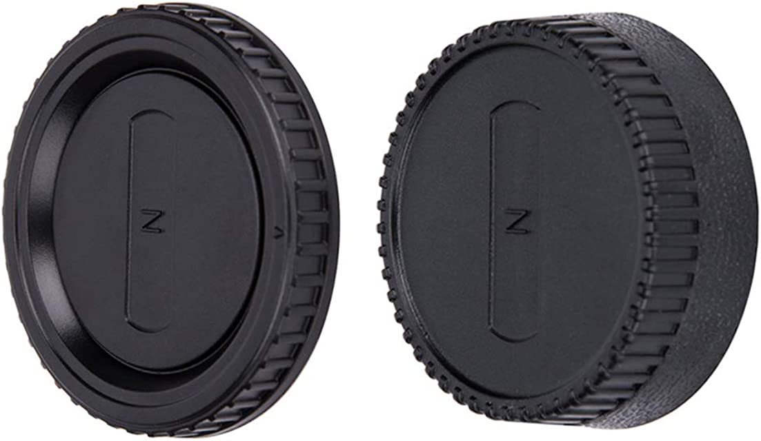 JJC Tapa de Cuerpo + Tapa del Objetivo de Cámara para Nikon F Mount DSLR & Nikon F Mount Objetivo (Conjunto de 1)