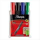 Sharpie M15–Marcador permanente (punta redonda, color rojo, color colores estándar surtidos juego de 4