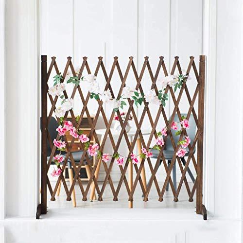 YQGOO Valla de jardín, Valla telescópica Decorativa de Malla de Madera Maciza anticorrosión, Enrejado de Pantalla de jardín 71 cm