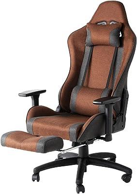 アイリスプラザ 座椅子 椅子 チェア ゲーミングチェア オフィスチェア ゲーミング座椅子 テレワーク 在宅勤務 ファブリックゲーミングチェア ブラウン FBGC-74