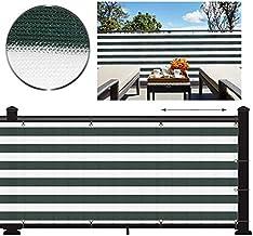 SLZFLSSHPK Decoratieve omheiningen Zwaar privacyscherm, koperen doorvoertule, uv-zonnewind voor buitenterras beschikbaar i...