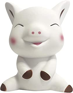 Loprt Squeeze Stress Reliever Toys,Super Slow Rising Toys Soft Scented Cute Cartoon Pig Stress Relief Toy for Kids and Adults (White)