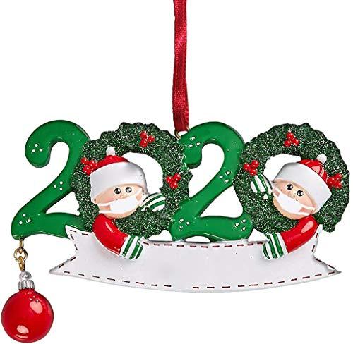 WAOTIER Xmas Tree Decorations - Decoración navideña personalizada, diseño de familia de adornos 2020