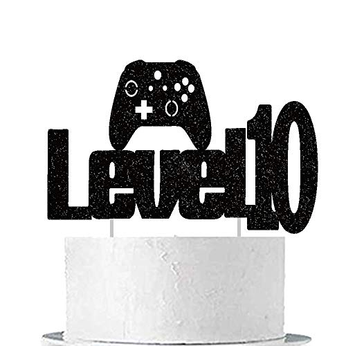 Video Game Level Up 10th Birthday Cake Topper