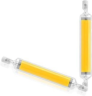 CNMJI Bombilla R7S LED 118mm Regulable Blanco Neutro 4000K, 2000LM, 20W para Sustitución de Halógeno de 200W, 360 Grados Luz, LED R7S COB 118mm para Plafones, Lámpara en el Baño