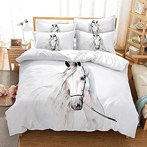 MQIQI Cama Blanca de la Cama de la Cama de la Cama de la Colcha de la Colcha de la Colcha y la Funda de Almohada con Cremallera for Dormitorio (Size : 90x190cm+65x65cm)
