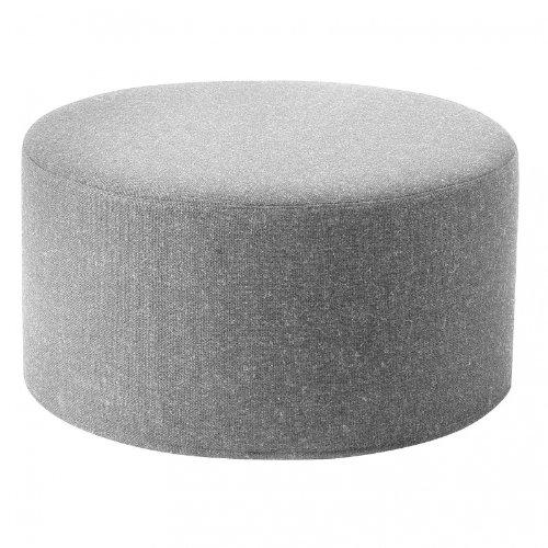 Drum Hocker/Beistelltisch L, hellgrau Stoff Filz 620 H 30cm Ø 60 cm