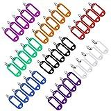 40pcs Porte Étiquettes Cle à bagages en plastique de voyage avec porte-clés etiquette d'identification Porte-Clés (8 couleurs)