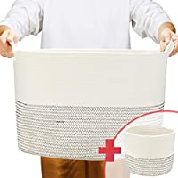 2-Pack Turnextte Cotton Rope Laundry Basket with Handles (22