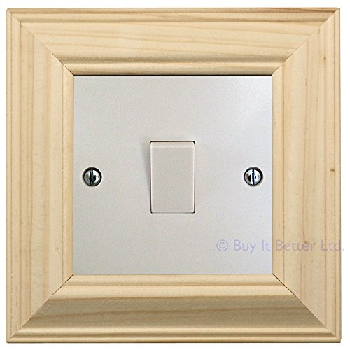 Self Adhesive Light Switch Surround Unfinished Pine Ready to Paint or Stain