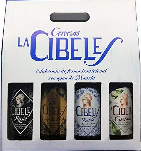 Cerveza Artesana La Cibeles. Pack de 4 Tercios Variados.