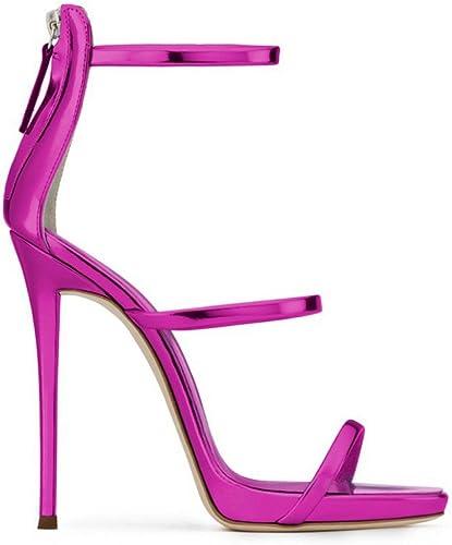 GAOLIXIA Bonbons Couleurs Chaussures pour Femmes Sandales à Boucle Boucle Sandales à Talons Sandales à Talons Simples Stilettos rue Simples été