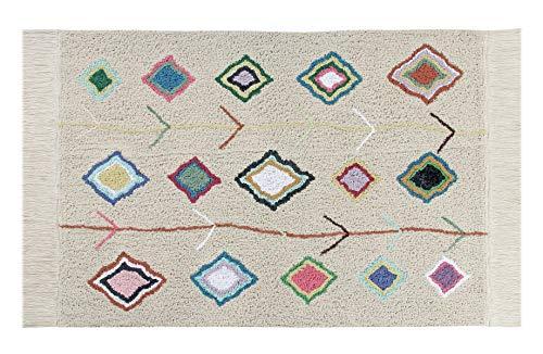 Lorena Canals Alfombra Lavable Kaarol Algodón Natural - Multicolor - 140x200 cm