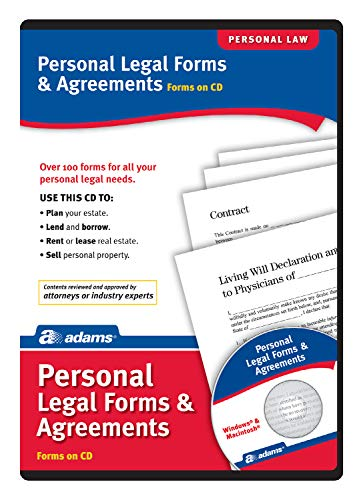 Adams Personal Legal Forms and Agreements on CD, White (SS4322)