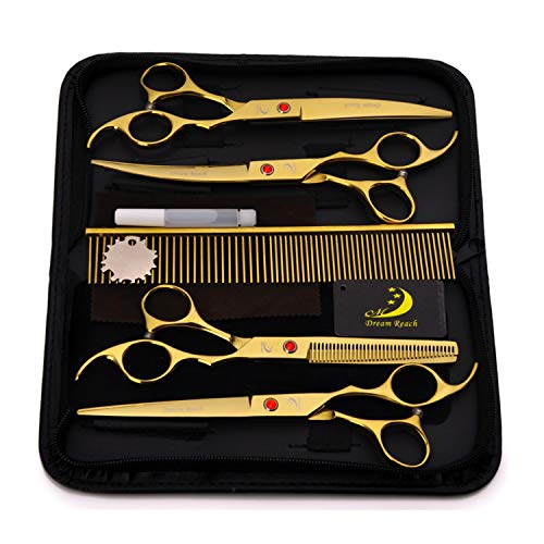 YXZQ Hundepflege Schere Professional Pet Hair Grooming Schere Effilierschere - Perfekte Trimmer Kit für Lange und Kurze Haare, Pelz für Katze und mehr Haustiere Haustierpflege
