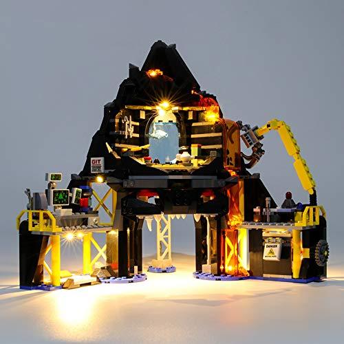 USB Juego de Luces de para Guarida del volcán de Garmadon Modelo de Bloques de Construcción, Kit de luz LED Compatible con Lego 70631 (Modelo Lego no incluido)