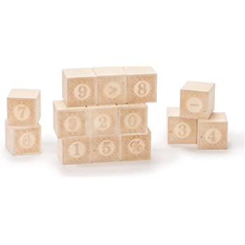 Uncle Goose Alphablanks Numbers Blocks - Made in The USA