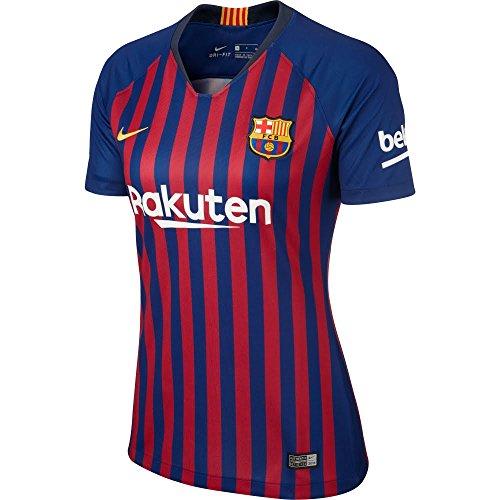 Nike Damen FC Barcelona Stadium Home T-Shirt, Deep Royal Blue/University Gold, L