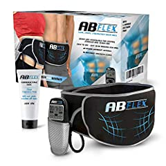 Van Flex Advanced Abdominal Muscle Trainer Elektrische Band voor een getrainde buik - 99 Intensiteit niveau en 10 programma's voor snelle resultaten - batterijen inbegrepen *