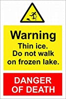 安全な看板サインサイン氷氷氷標識道路歩くこと