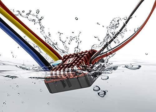 Hobbywing QUICRUN WP 1080 brushed (2-3S) Electronic Speed Controller Waterproof ESC With Program Box LED BEC XT60-Plug RC Car 1:10 30112750