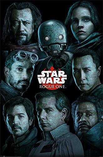 Star Wars Rogue One Personaggi Maxi Poster, Multicolore