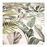 Stoff Baumwolle off-white Dschungel breit 280 cm Blatt