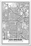 Panorama Poster Karte von Los Angeles 50 x 70 cm - Gedruckt
