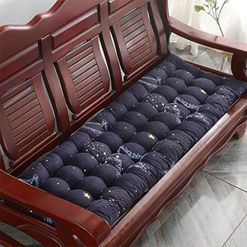 ZCXBHD Ligstoel voor het strand, met relax-effect, draagbaar, voor de tuin, terras, dik, gewatteerd, zit-afdekking, rugleuning