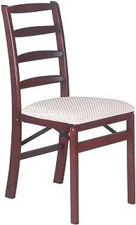 Shaker Ladderback Wood Folding Chair in Cherry Finish - Set of 2