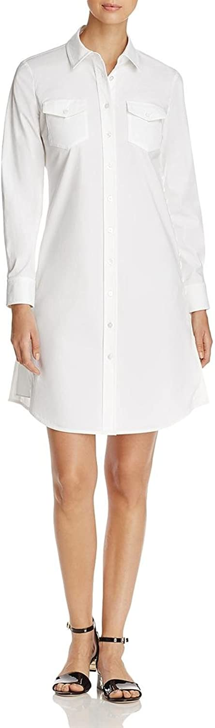Tory Burch Womens Nora LaceUp Sides Long Sleeve Shirtdress