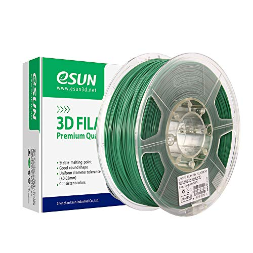 eSUN PLA+ Filament 2.85mm, PLA Plus 3D Printer Filament, Dimensional Accuracy +/- 0.03mm, 1KG (2.2 LBS) Spool 3D Printing Filament for 3D Printers, Pine Green