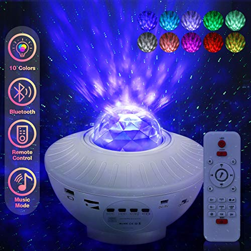 Lacoco Star Light Projector for Bedroom, Nebula Projector Night Light with Bluetooth Speaker for Party Bedroom Decoration,Best Christmas Birthday Gifts for Men Women Kids Baby