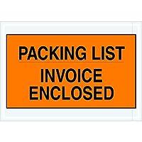 Tape Logic TLPL419 Packing List/Invoice Enclosed Envelopes 7 x 10 Orange (Pack of 1000) [並行輸入品]