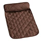 Msr Imports, Inc Diamond Quilted Fabric Neck Pillow with Removable Foam Insert - Chocolate