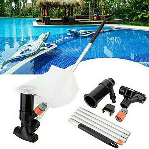 Hezhu Pool Schwimmbad Reiniger Reinigungsset Bodensauger Auffangsack und Stange