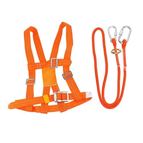Fallschutz Auffanggurt, Absturzsicherung 5-Punkt Geschir, Safety Harness Klettergurt Einstellbar für Elektriker,Wand Bürsten (5m, kleine Karabiner)