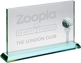"Lapal Dimension Jade glazen rechthoek met golfbal en mat Tee (10mm dik) - 7 X 11"""