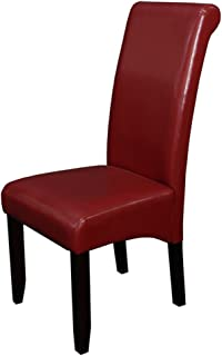 Monsoon Pacific Milan Faux Leather Dining Chairs (Set of 2), Red