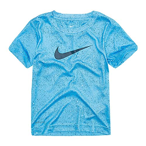Nike Toddler Boys' Dri-Fit Split Swoosh Graphic T-Shirt (EquatorBlue(86C267-U6A)/Black, 7)