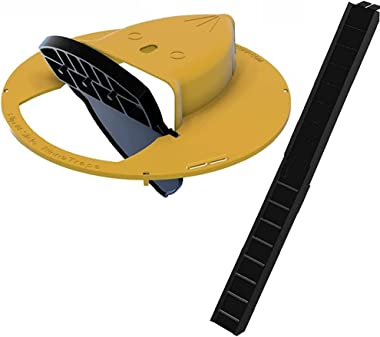 Flip N Slide Bucket Lid Mouse/Rat Trap, Multi Catch Auto Reset Humane Mouse Trap cage Bucket Device no See Kill
