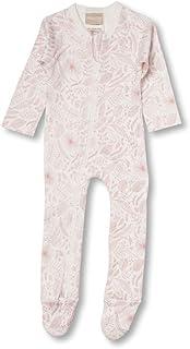 Babyushka Organic Essentials Long Sleeve Zip Baby Jumpsuit, Pink, 0