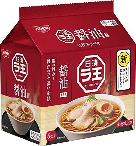 Nissin - Raoh Ramen istantaneo giapponese Zuppa di salsa di soia classica Noodles (per 5 Porzioni) di Nissin