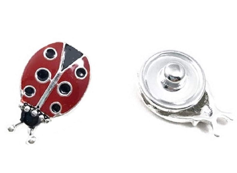 Mini 12mm Ladybug Snap Charm