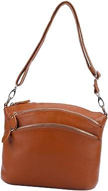 sharprepublic Dreifache Reißverschlusstaschen Mittlere Umhängetasche Mit Verstellbarem Schultergurt