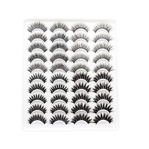 AleXanDer1 Pestañas postizas 15-25mm Mink Pestañas 20 Pares De Hecho A Mano 3D Mink Lashes Pestañas Naturales Extendido La Belleza del Maquillaje De Las Pestañas Falsas (Color : 4402)