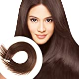 Tape in Human Hair Extensions 16 inches 20pcs 40g Silky Straight Remy Tape in Extensions #4 Medium Brown