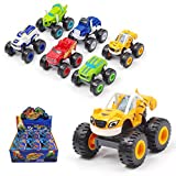 BEFANS 6 Pack Nickelodeon Blaze & The Monster Machines - Monster Machines Toys Scooters Car - Crusher Truck Vehicles Toys Gifts for Kids Boys