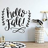 yaonuli Creativo Hola otoño Etiqueta de la Pared habitación de los niños decoración del hogar Etiqueta de la Pared Decorativa extraíble 42x53cm